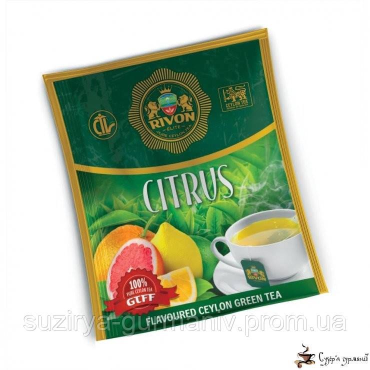 Зелёный чай Rivon Цитрус 1,5г*25 пакет/конвертов, фото 1