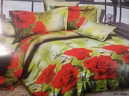 Євро комплект постільної білизни 3D Софія Три троянди