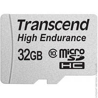 Карта Памяти Transcend microSDHC 32 GB Class 10 High Endurance + SD адаптер (TS32GUSDHC10V)