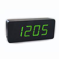 Электронные цифровые настольные часы деревянные VST-865