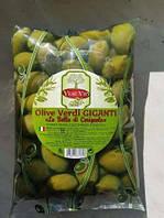 Оливка дольче сицилия гиганте с косточкой чистый вес 500грм