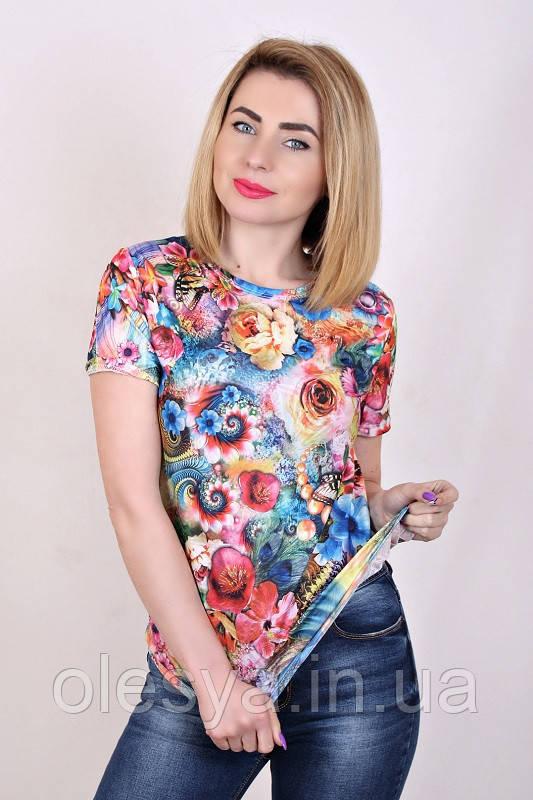 Футболка женская Розы 01, женская футболка с цветами - Интернет - магазин Олеся в Каменском