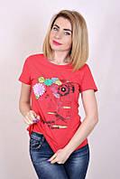 Футболка женская 1511 (2 цвета), женская футболка х/б