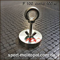 Поисковый магнит F100 кг (Poland) сила 100 кг