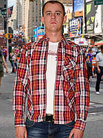 Мужская рубашка (Красный)