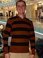 Мужской свитер (пуловер)     (Коричневый)