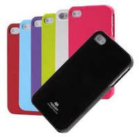 Чехол Mercury iJelly Color series Apple iPhone 4 / 4S (Черный)