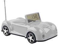 Подставка под мобильный телефон «Автомобиль» с радио, часами, термометром, датой. При звонке мобильного телефона у автомобиля мигают фары