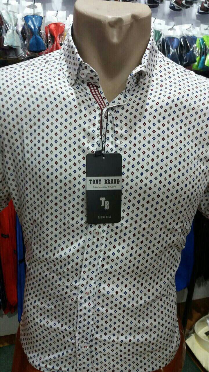 Рубашка мужская короткий рукав Тony Brend