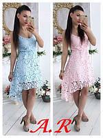 Кружевное платье  люкс качества! дорогое набивное кружево,  пышная юбка. размер уни с-м.