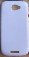 Силиконовый чехол для HTC ONE S Z520E (белый цвет)