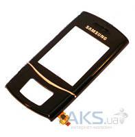 Передняя панель корпуса (рамка дисплея) Samsung S5050  с сенсорными кнопками Original Black