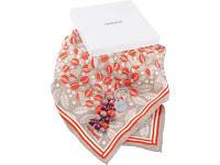 Набор Cacharel: брелок, шарф шелковый