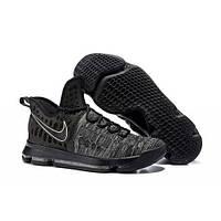 Баскетбольные кроссовки Найк Zoom KD 9 Black/Grey Реплика