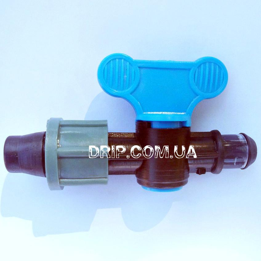 Кран для капельной ленты с впаянной резинкой (Украина)