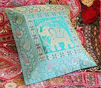 """Наволочка """"Слон"""" цвет индиго (42х42 см)"""