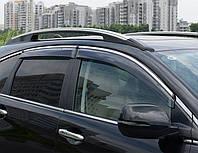 Дефлекторы окон (ветровики) Honda CR-V 2007-2012 4дв Хром молдинг AVTM