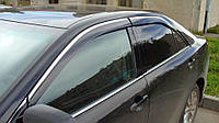 Дефлекторы окон (ветровики) Toyota Camry V50 2011- 4дв Хром молдинг AVTM