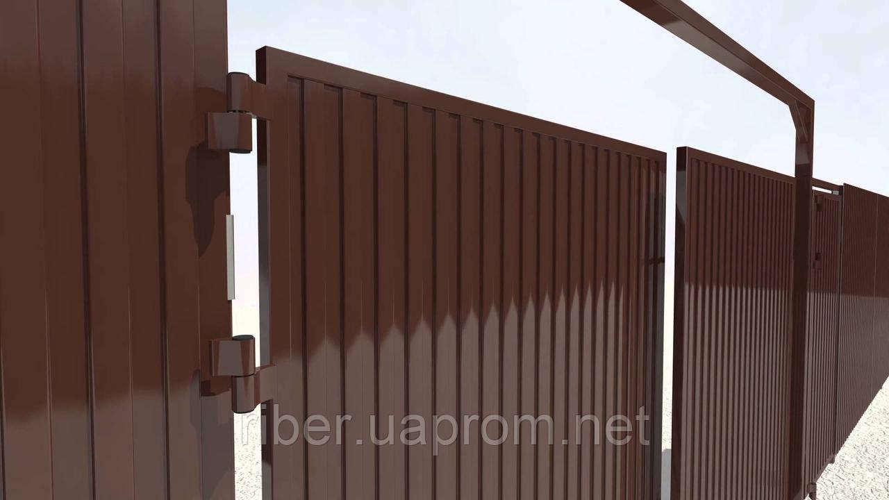 Профнастил ПС 10 мм коричневый
