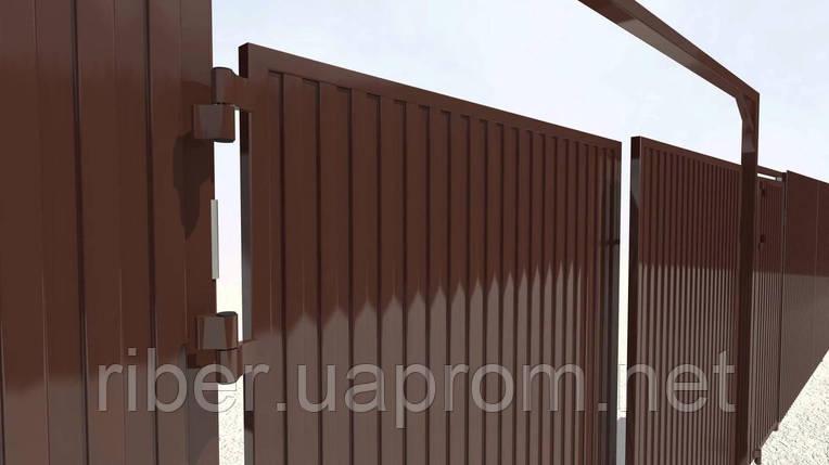 Профнастил ПС 10 мм коричневый, фото 2