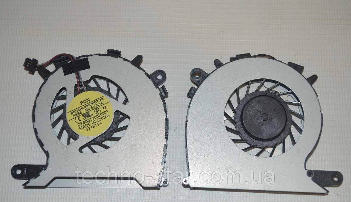 Вентилятор (кулер) FCN DFS531205HC0T для Toshiba Satellite U840 U845 CPU FAN