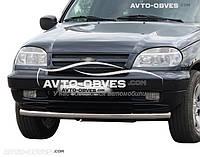 Защита переднего бампера для Chevrolet Niva Bertone от ИМ Автообвес (п.к. V001)