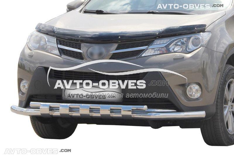 Защита бампера Тойота Раф4 2013 - 2016