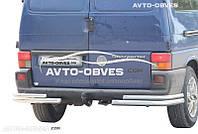 Защита заднего бампера для VolksWagen Transporter T4, углы двойные (п.к. АК3)