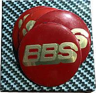 Наклейки на диски 3D BBS 55мм 4шт Realux красные