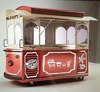 Торговый киоск трамвай вагон