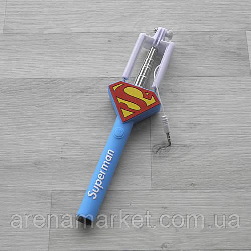 Монопод селфи-палка Superman на проводе