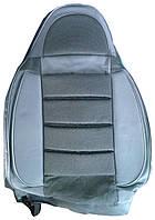 Авточехлы Pilot VIP гобелен серые (серый винил)