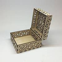 Свадебная коробочка для колец. Размер 12х12х7 см.