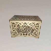Свадебная коробка для подарочных конвертов. Размер 25,5х15,5х17,5 см.