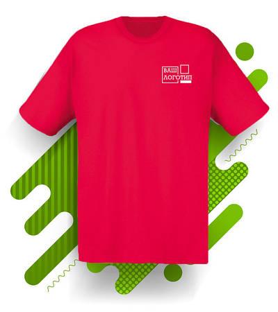 Футболка 'Original T' (Fruit of the Loom), 9 цветов, Красная, с нанесением логотипа, 061082040