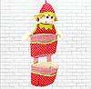 Детская кукла-коврик,красная