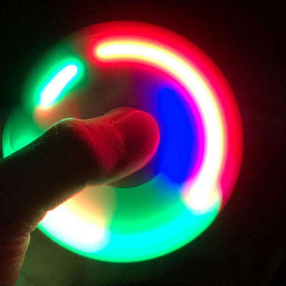 Спиннер метал с LED подсветкой