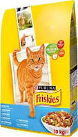Сухой корм для кошек Friskies с лососем и овощами, 10КГ