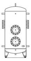Бойлер косвенного нагрева серия CHC 2 теплообменника+место под ТЭН