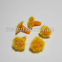 Серединка для цветка, бархатная, 8 мм, цвет желтый