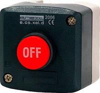Кнопковий пост e.cs.stand.xal.d.118, stop, опукла кнопка, фото 1