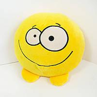 Мягкая игрушка смайлик emoji добрячок 18см