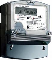 Трехфазный счетчик с жк экраном НІК 2303 АК1 1100 MC, комбинированного включения 5(10) А, с защитой от магнитных и радиопомех.