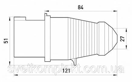 Силова вилка переносна e.plug.pro.3.16, 3п., 220В (013), фото 2
