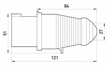 Силовая вилка переносная e.plug.pro.3.16, 3п., 220В (013), фото 2
