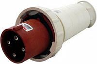 Силовая вилка переносная e.plug.pro.4.63, 4п., 380В, 63А (034), фото 1