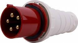 Силова вилка переносна e.plug.pro.5.125, 5п., 380В, IP 67, 125А (045), фото 2