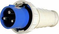 Силовая вилка переносная e.plug.pro.3.63, 3п., 220В, 63А (033), фото 1