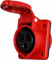 Силовая розетка встраиваемая e.socket.pro.4.16.wall, 4п., 380В 16А (414), фото 1