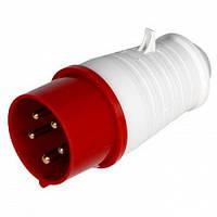 Силовая вилка переносная e.plug.pro.5.32, 5п., 380В, 32А (025), фото 1